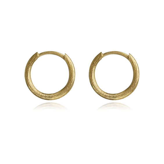 18ct Gold Small Hoop Earrings | Annoushka jewelley