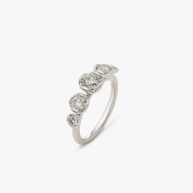 Marguerite 18ct White Gold Five Stone 0.50ct Engagement Ring