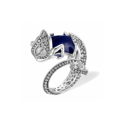Unique 18ct White Gold Interchangeable Diamond Chameleon Ring