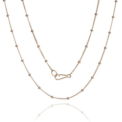 14ct Rose Gold Saturn Long Chain