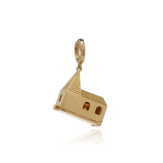 "18ct Gold ""God Is In The House"" Charm"