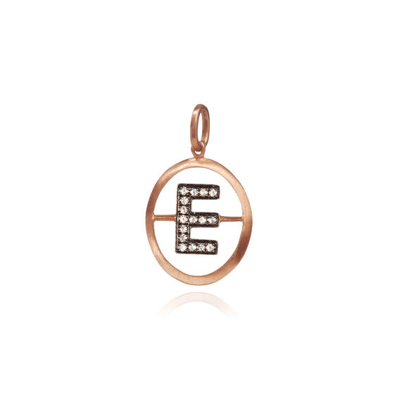 18ct Rose Gold Initial E Pendant