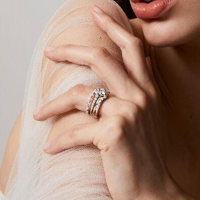 Marguerite 18ct White Gold Jacket Ring