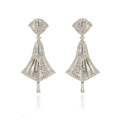 Flamenco 18ct White Gold 4.12 ct Diamond Small Earrings