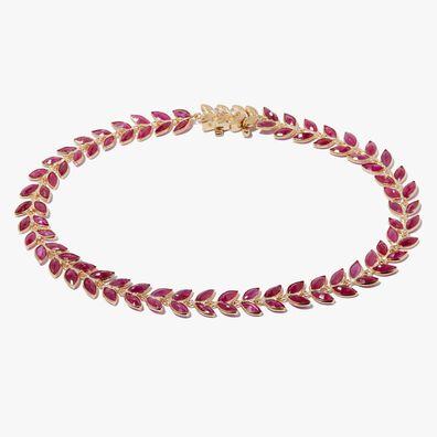18ct Gold Ruby Vine Bracelet
