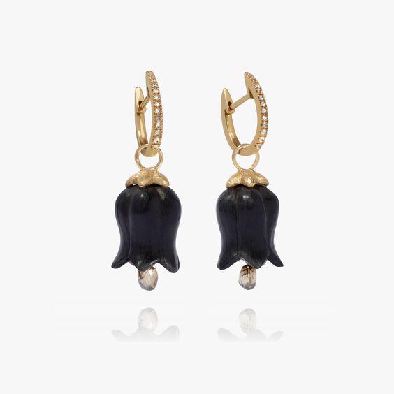 18ct Gold Ebony Pearl Tulip Earrings   Annoushka jewelley