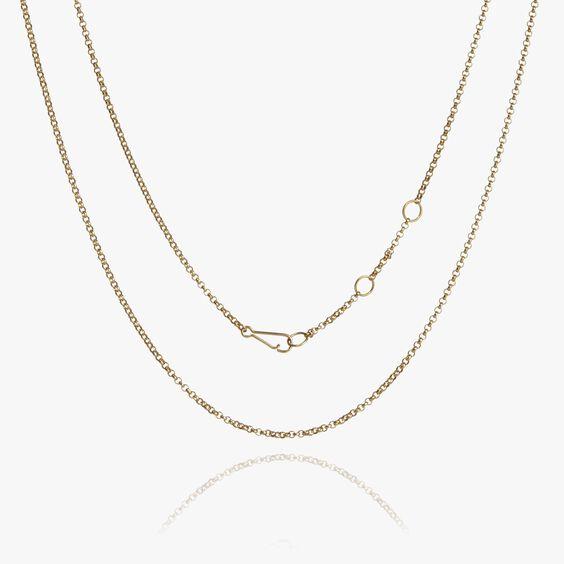 14ct Gold Fine Belcher Chain | Annoushka jewelley