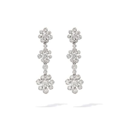 Marguerite 18ct White Gold Diamond Drop Earrings