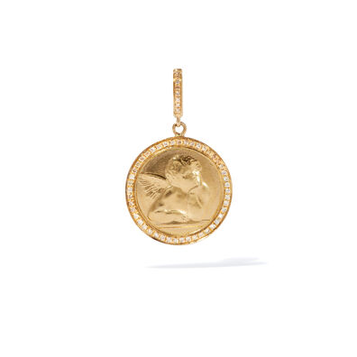 Mythology 18ct Gold Diamond Cherub Charm