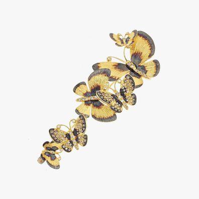 Butterflies 18ct Yellow Gold Diamond Brooch