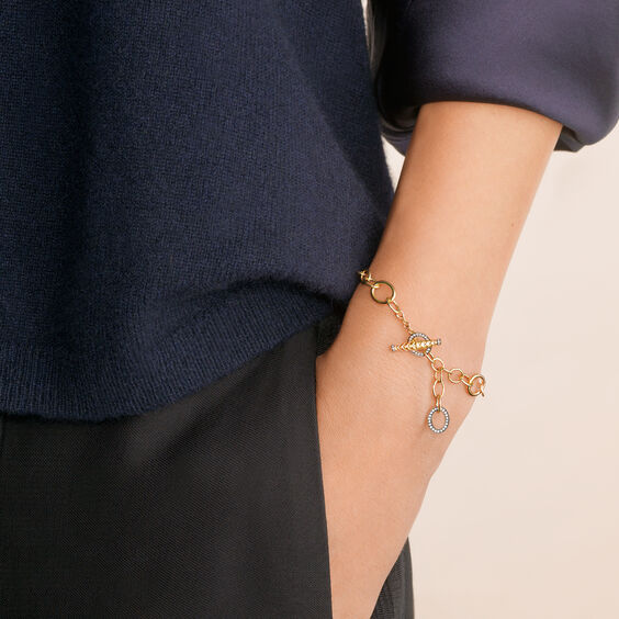 18ct Gold & Diamond Charm Bracelet | Annoushka jewelley