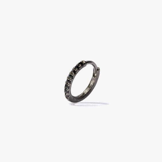 Dusty Diamonds 18ct White Gold Black Diamond 12mm Hoop   Annoushka jewelley