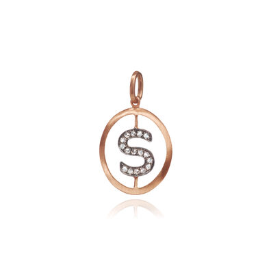 18ct Rose Gold Initial S Pendant