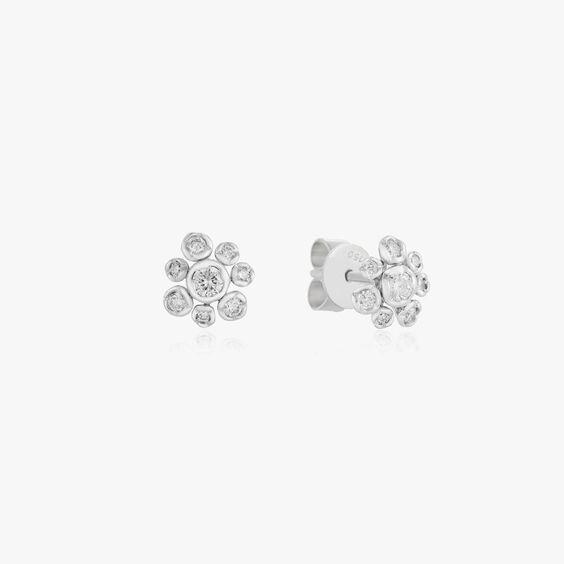 Marguerite 18ct White Gold Diamond Small Stud Earrings | Annoushka jewelley