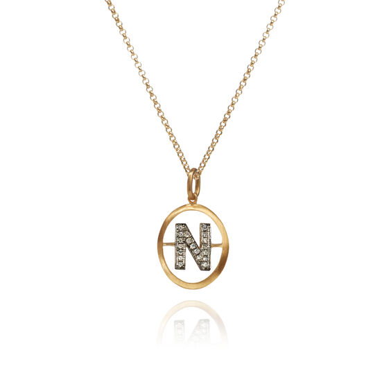 18ct Gold Diamond Initial N Necklace | Annoushka jewelley