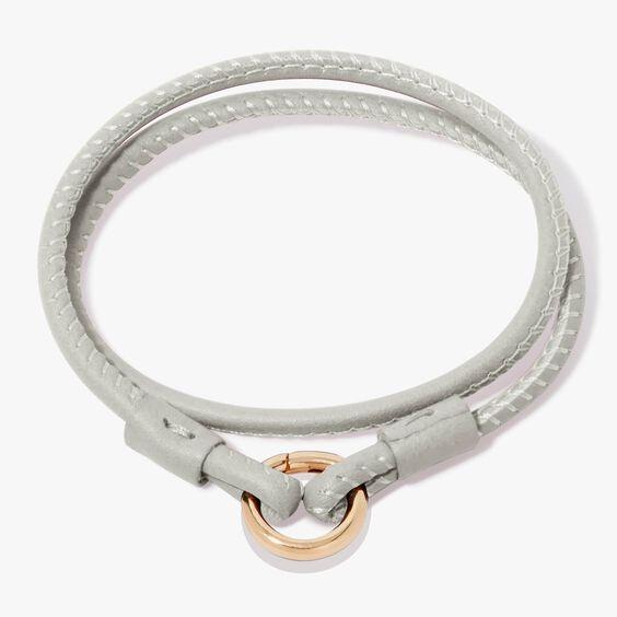 14ct Gold Lovelink 41cms Cream Leather Bracelet | Annoushka jewelley