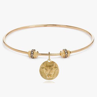 Mythology 18ct Gold Taurus Bangle