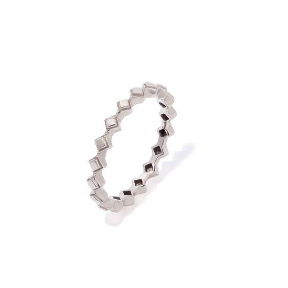 Stepping Stone 18ct White Gold Ring | Annoushka jewelley