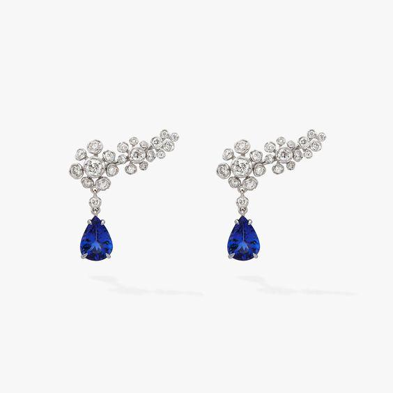 Marguerite Diamond & Tanzanite Ear Pins | Annoushka jewelley