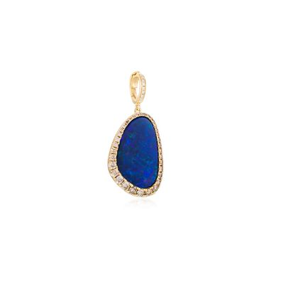 Unique 18ct Gold Opal Pendant