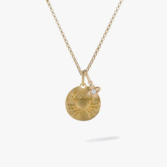 Gold Cancer & Pearl June Birthstone Necklace | Annoushka jewelley