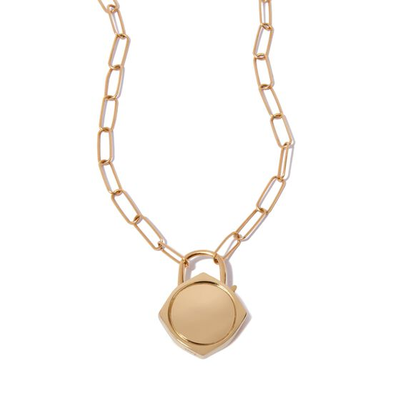 Lovelock 14ct Gold Mini Cable Chain Charm Necklace | Annoushka jewelley
