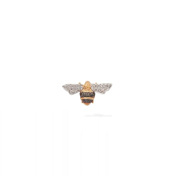 Love Diamonds 18ct Gold Diamond Bee Single Stud Earring | Annoushka jewelley