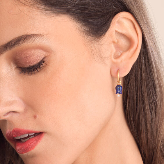 18ct Gold Lapis Lazuli Tulip Earrings | Annoushka jewelley
