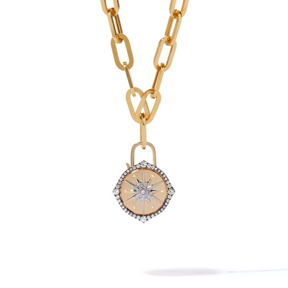 Lovelock 18ct Gold Cable Chain Star Charm Necklace | Annoushka jewelley