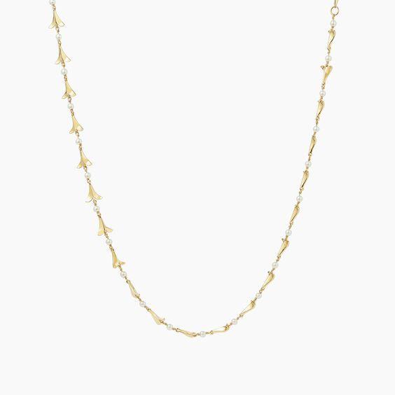 18ct Gold Pearl Diamond Choker