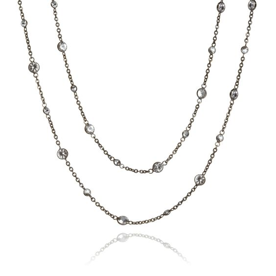 Nectar 18ct White Gold Sapphire Long Necklace | Annoushka jewelley