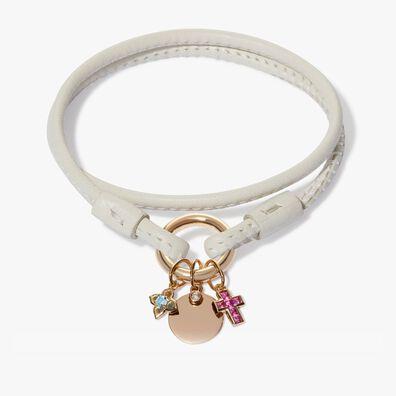 Tokens Aquamarine & Pink Sapphire Bracelet