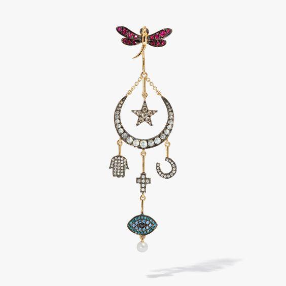 Love Diamonds 18ct Yellow Gold Diamond Lunar Right Earring | Annoushka jewelley