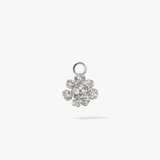 Marguerite 18ct White Gold Diamond Single Earring Drop | Annoushka jewelley
