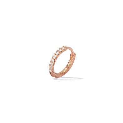 Dusty Diamonds 18ct Rose Gold Diamond 12mm Hoop