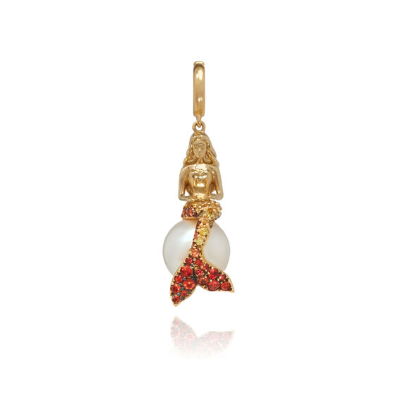 "18ct Gold Sapphire ""Mermaids"" Charm 