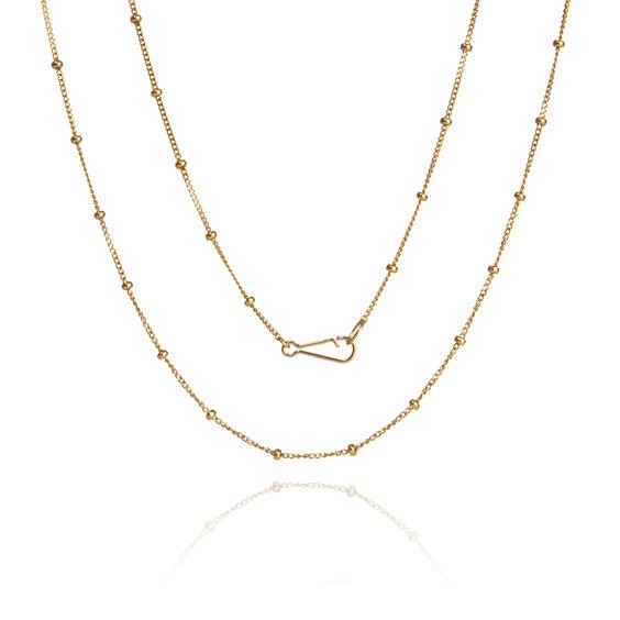 18ct Gold Saturn Short Chain