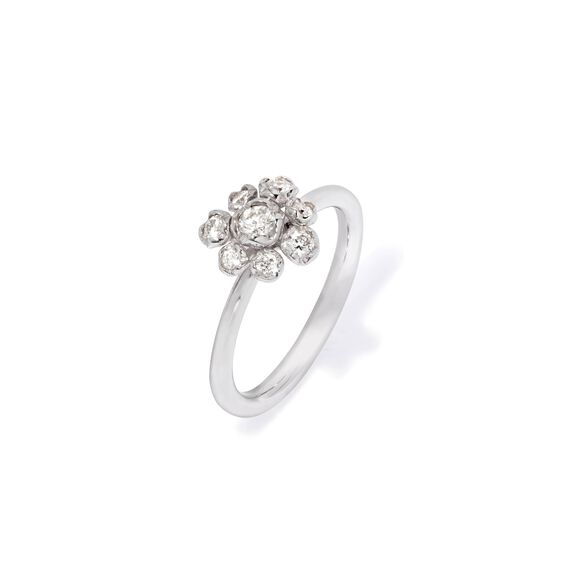 Marguerite 18ct White Gold Diamond Large Ring | Annoushka jewelley