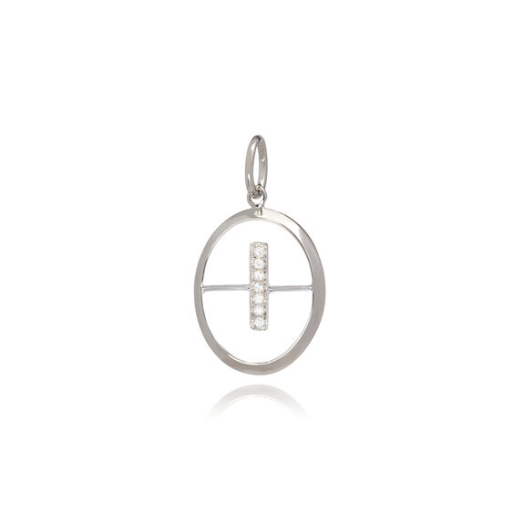 18ct White Gold Initial I Pendant