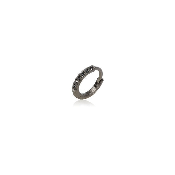 Dusty Diamonds 18ct White Gold Black Diamond 10mm Hoop