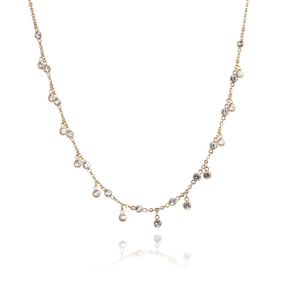 Nectar 18ct Gold White Sapphire Necklace | Annoushka jewelley