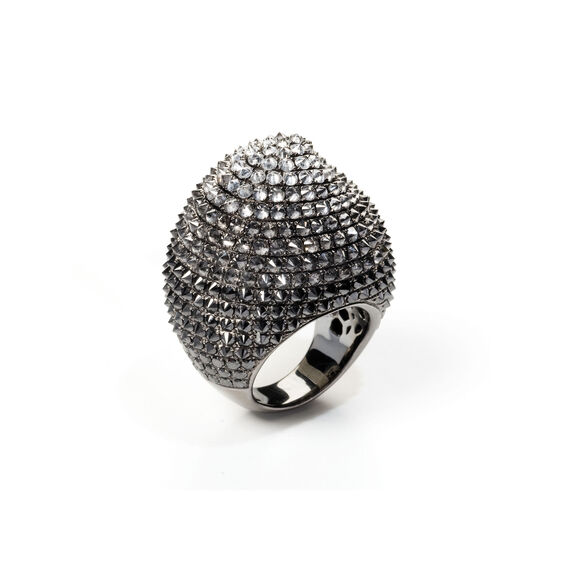 Eclipse 18ct White Gold Porcupine Diamond Ring