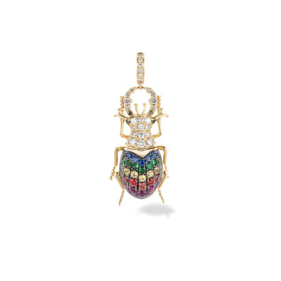 Mythology 18ct Gold Rainbow Beetle Charm