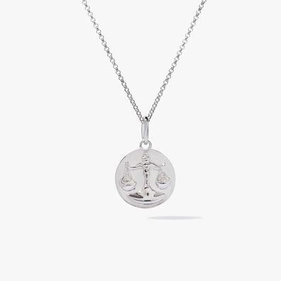 Mythology 18ct White Gold Libra Necklace