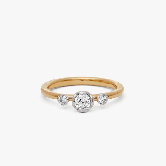 Marguerite 18ct Yellow & White Gold Three Stone 0.25ct Engagement Ring | Annoushka jewelley
