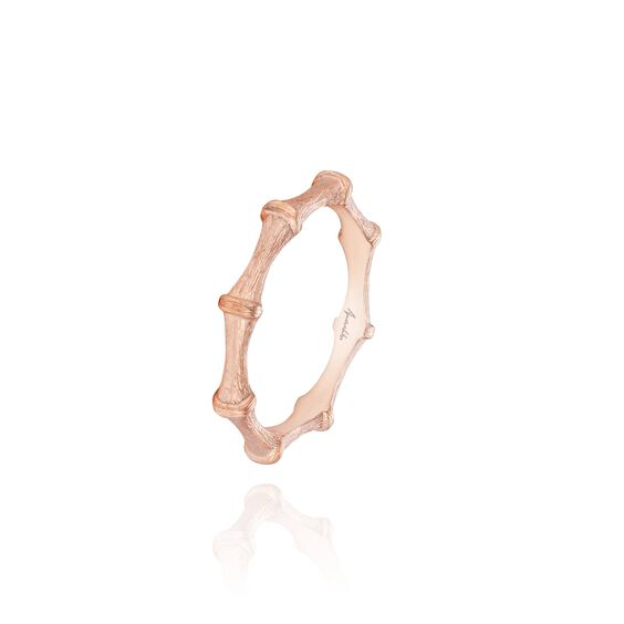 Bamboo 18ct Rose Gold Ring | Annoushka jewelley