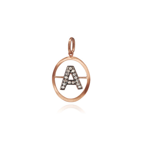 18ct Rose Gold Initial A Pendant