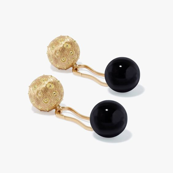 A Pair of 18ct Gold Onyx Cufflinks | Annoushka jewelley