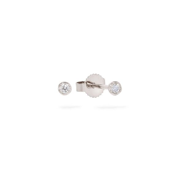 Love Diamonds 14ct White Gold Solitaire Small Stud Earring | Annoushka jewelley