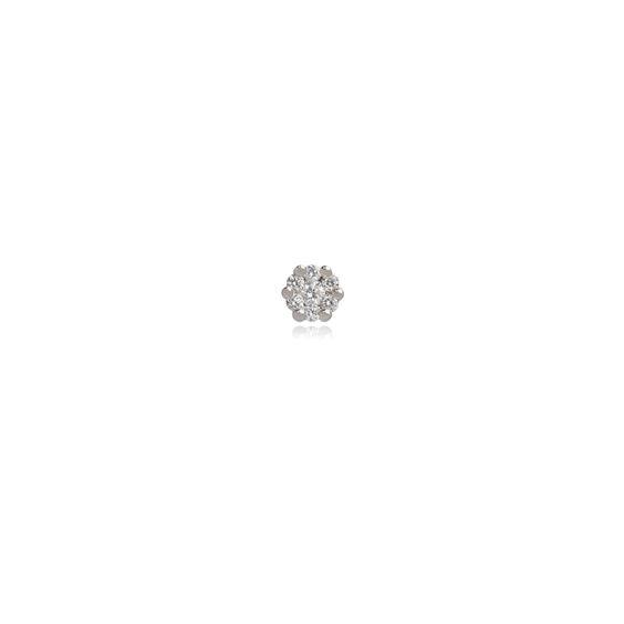 Daisy 18ct White Gold 0.16 ct Diamond Single Stud | Annoushka jewelley